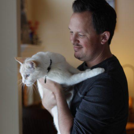 Adam-with-his-cat-Powder
