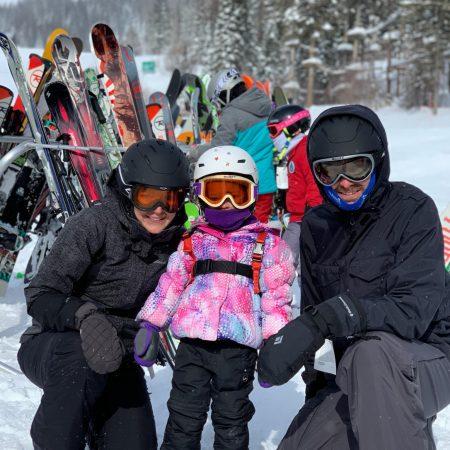 Amelia's first downhill ski trip
