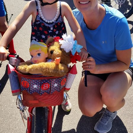 Riding Bike in July 4 Parade